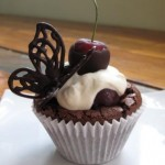 Black forest brownie cupcakes