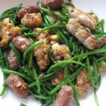 Sweetbreads, samphire, merguez