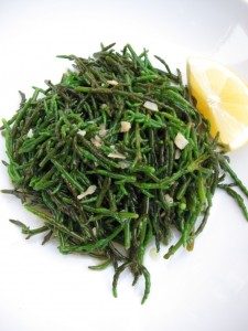 Samphire, simply cooked
