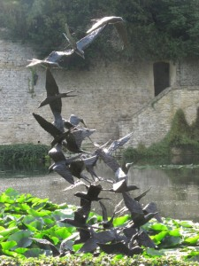 Sculpture of terns