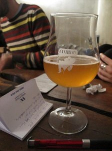 Drinking gueuze at Moeder Lambic