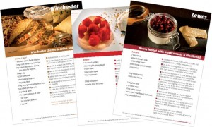 Taste the South Downs recipe cards