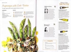 Asparagus recipe for Hampshire Life Magazine