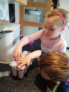 Adding lids and sticks