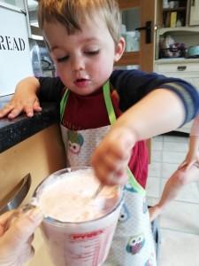 Stirring the mixture