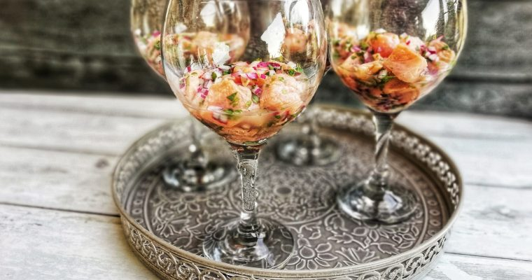 Test Valley trout ceviche